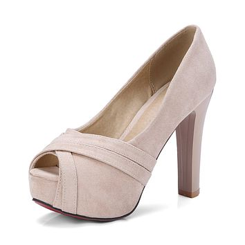 Peep Toe Platform Pumps High Heels Sandals Summer Shoes 8078