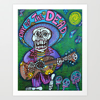 Song Of The Dead Art Print by Laura Barbosa Art
