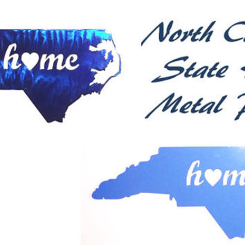 North Carolina Home Metal Plaque