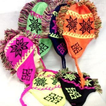 winter neon color hats with mohawk assorted Case of 24