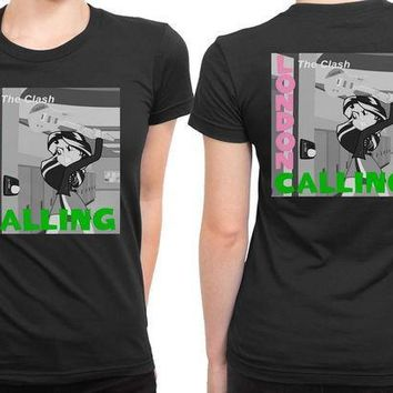 CREYH9S The Clash London Calling Cameleon Man 2 Sided Womens T Shirt