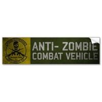 Official 147th Zombie TF Bumper Sticker from Zazzle.com