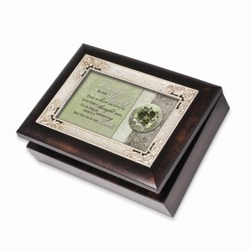 Burlwood Forever In Our Heart Bereavement Music Box - Perfect Religious Gift