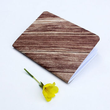Rustic Wooden Texture Traveler's Notebook Journal Stationary Planner Insert Blank Pages Sketchbook