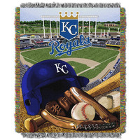 Kansas City Royals MLB Woven Tapestry Throw (Home Field Advantage) (48x60)