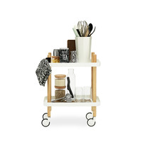 Block Table Rolling Kitchen Cart