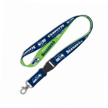 seattle seahawks nfl football sports team detachable lanyard with key ring