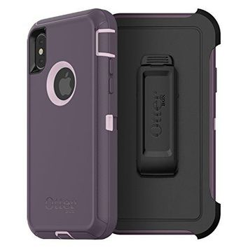 OtterBox DEFENDER SERIES Case for iPhone X (ONLY) - Retail Packaging - PURPLE NEBULA (WINSOME ORCHID/NIGHT PURPLE)