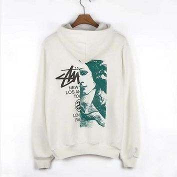 Stussy Fashion High grade printing hooded sweater