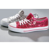 Sequin Chuck Style Low Top Sneakers