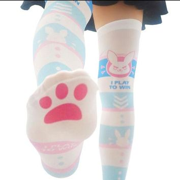 3 STYLES watch over STOCKINGS  Over Knee SOCKS Song Hanna DVA  D.va women men girl  ladies LOLITA STOCKINGS