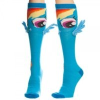 MLP womens My Little Pony Rainbow Dash Knee High Socks with Wings Standard