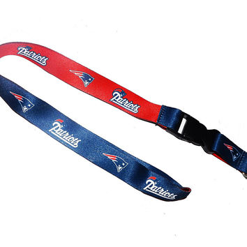 New England Patriots NFL Team Lanyard with Detachable Buckle