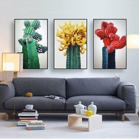 Nordic Simple Cactus Plant Canvas Painting Posters And Prints Wall Art Decorative Picture Decoration For Living Room Home Decor