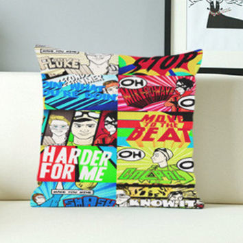 5 Seconds of Summer Don't Stop Collage - Design Pillow Case with Black/White Color.