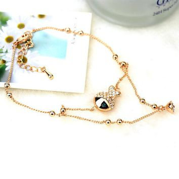 DCKL9 Sexy Stylish New Arrival Gift Shiny Ladies Cute Jewelry Apple Crystal Lovely Anklet [6048621697]