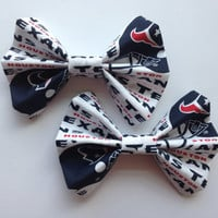Girl's Houston Texans Football Fabric Hair Bow