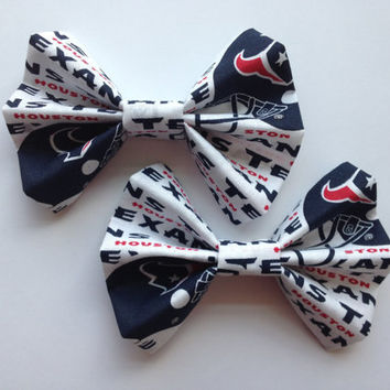 Houston Texans Women's Heart Stone Hair Clip