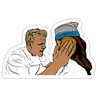 'Gordon Ramsay Idiot Sandwich' Sticker by jonathanwong96