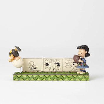 Jim Shore Peanuts Lucy Charlie Brown Comic Strip Resin Figurine New with Box