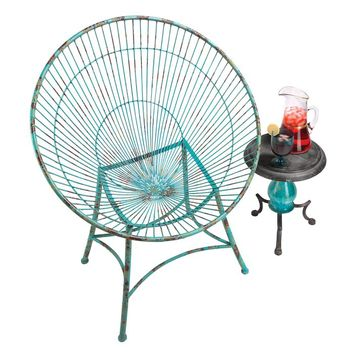 Saint-Tropez Sculptural Metal Hoop Garden Chair