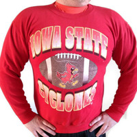 Iowa State University Crewneck Sweatshirt - Graduation Gift - Iowa State Cyclones Red Sweatshirt - Modern Day XL