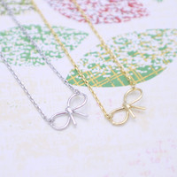 triple triangle necklace in  silver or gold tone