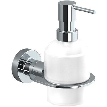 Sonia TECNO Wall Frosted Glass Pump Soap Lotion Dispenser for Bathroom