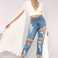Sleeves For Days Top - Off White