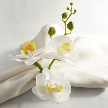 White Orchid Napkin Ring