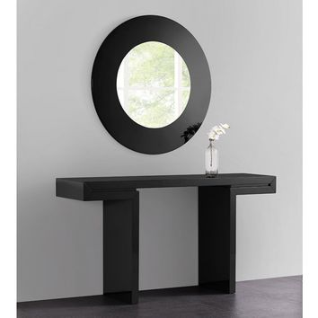 Delaney Console in High black gloss lacquer