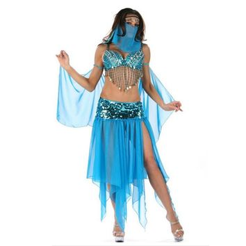 Sexy Adult Women Arab Princess Dancer Dress Arabic Dance Costume Aladdin Princess Halloween Fancy Dress