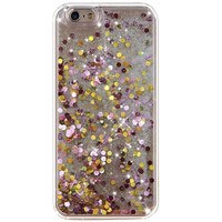 GOLDEN PINK GLITTER IPHONE CASE