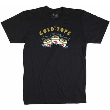 Casual Industrees Mens Gold Tops