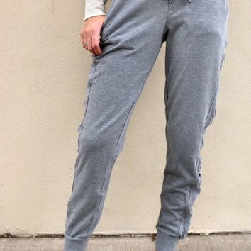 One Track Mind Pants - Storm Grey by Dex
