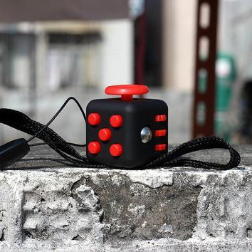 2017 Fidget Cube Fidget Toy Magic Cube Desk Toy Finger Toy Anti Stress Reliever Toy Plastic Christmas Gift Stress Reliever