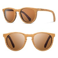 Women's Shwood 'Belmont' 48mm Polarized Wood Sunglasses