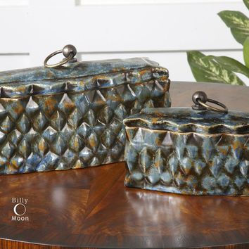 Neelab Ceramic Containers, Set/2 By Uttermost