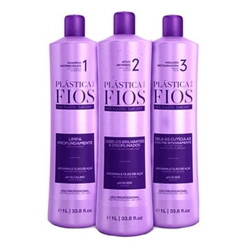 CADIVEU PLASTICA DOS FIOS BRAZILIAN KERATIN 3 STEPS TREATMENT KIT 1000ml (34oz)