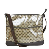 Gucci Brown Crystal GG Canvas Messenger Bag 374411 9790