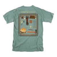 Campfire Collection Tee in Light Green by Fripp & Folly - FINAL SALE
