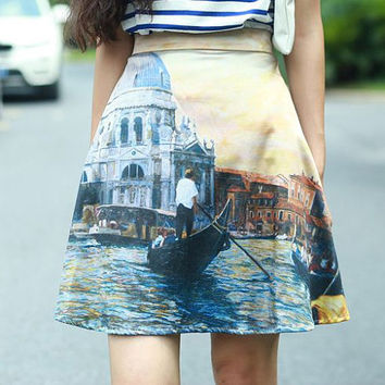 Designed FineArt Collection Sunset in Venice chic vintage gorgeous skirt