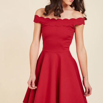 Romantic Marvel A-Line Dress | Mod Retro Vintage Dresses | ModCloth.com