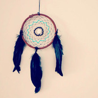 Medium Lotus Dream Catcher with Leather, Intricate Beadwork and Howlite