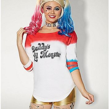 Adult Daddy's Lil Monster Varsity Top - Suicide Squad - Spencer's