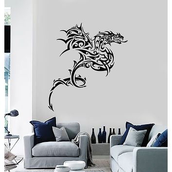 Vinyl Wall Decal Celtic Dragon Fantasy Myth Animal Fairy Tale Stickers Mural (g1218)