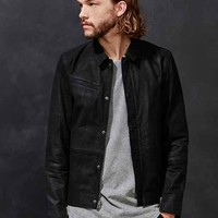 Members Only Suede Moto Trucker Jacket