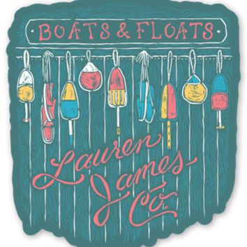 Lauren James Boats And Floats Sticker