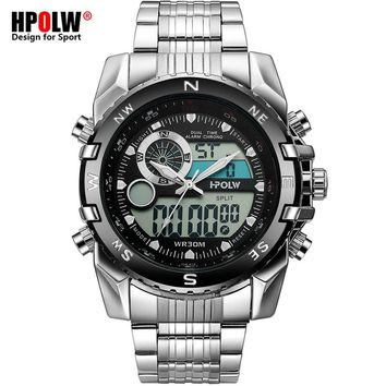 Luxury Brand Men Military Sport Watches Men's Quartz LED Chronos Analog Clock Male Digital Wrist Watch Relogio Masculino
