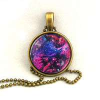 10% SALE Necklace Copper, Galaxy Jewelry, Universe, Space, Pendant Necklaces,Constellation,Gift For Her